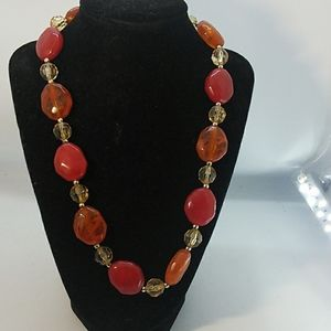 Jewelry - Acrylic Necklace Autumn colors